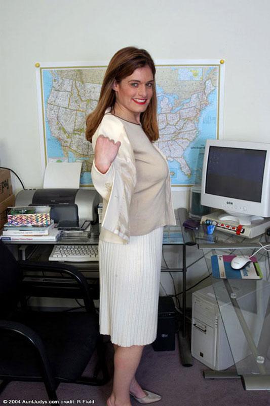 secretary Busty mature