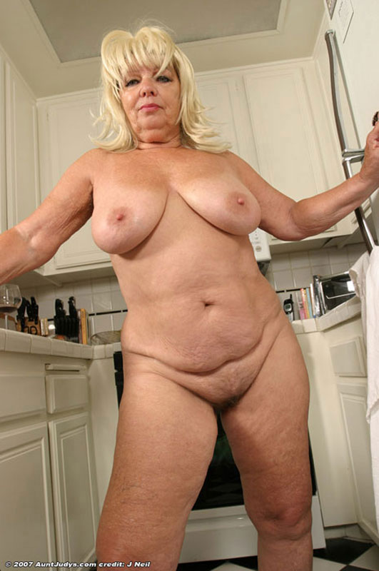 bbw naked piercings - Free Gallery - Chubby blonde mature housewife exposes pierced hairy pussy